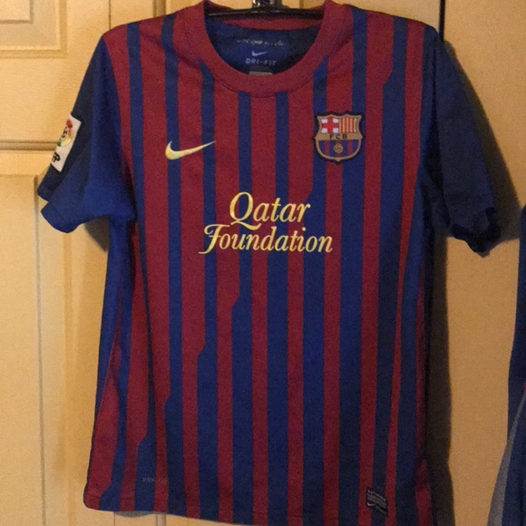 Nike Shirts Tops Qatar Foundations Barcelona Fc Authentic Jersey Poshmark